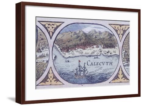 Calcutta from Historic Atlas--Framed Art Print