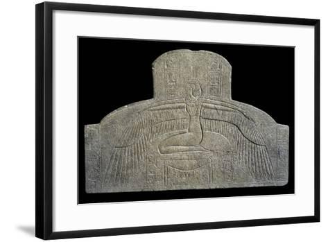 Egypt, Valley of the Kings, Tomb of Merneptah, Historiated Sarcophagus, Goddess Ma'at--Framed Art Print