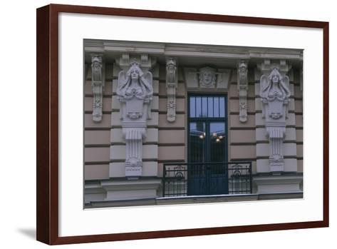 Latvia, Riga, Historic Centre, Building Exterior Detail--Framed Art Print