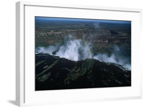 Zambia, Mosi-Oa-Tunya National Park, Rainbow over Victoria Falls--Framed Art Print