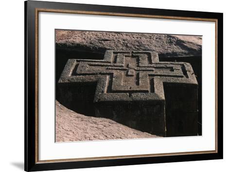 Ethiopia, Lalibela, Rock-Hewn Churches, Church of Saint George--Framed Art Print