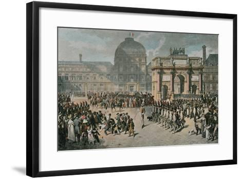A Day of Review under the Empire--Framed Art Print