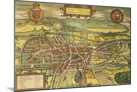 Map of Norwich from Civitates Orbis Terrarum--Mounted Giclee Print