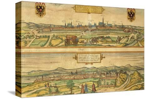Map of Vienna and Buda from Civitates Orbis Terrarum--Stretched Canvas Print