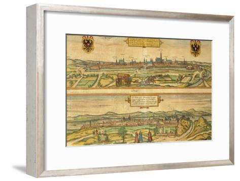 Map of Vienna and Buda from Civitates Orbis Terrarum--Framed Art Print