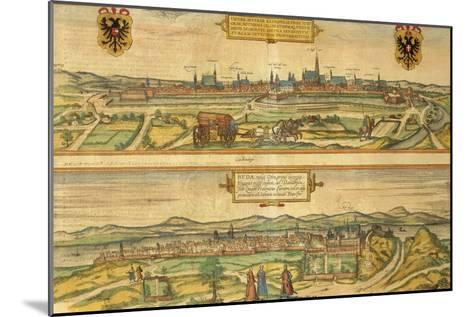 Map of Vienna and Buda from Civitates Orbis Terrarum--Mounted Giclee Print