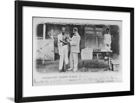Inoculation Against Plague in Bombay, Early 20th Century--Framed Art Print
