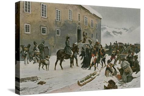 Bonaparte Received by the Monks of Mount St Bernard--Stretched Canvas Print
