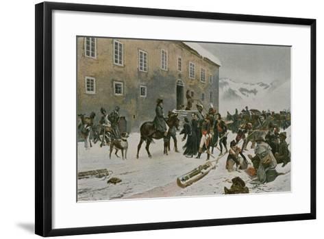 Bonaparte Received by the Monks of Mount St Bernard--Framed Art Print