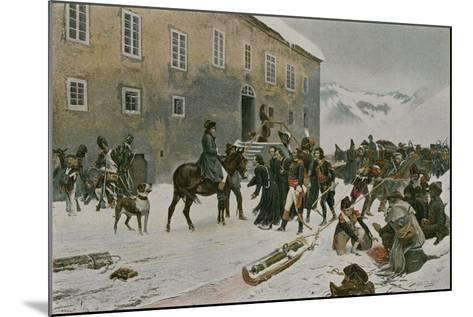Bonaparte Received by the Monks of Mount St Bernard--Mounted Giclee Print