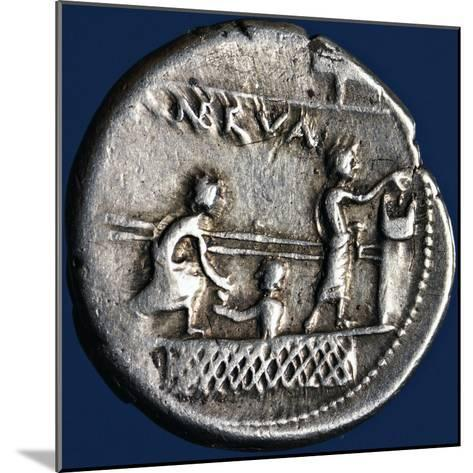Silver Denarius with Scenes of Voting in Rome, 110-94 BC Roman Coins, 2nd-1st Century BC--Mounted Giclee Print