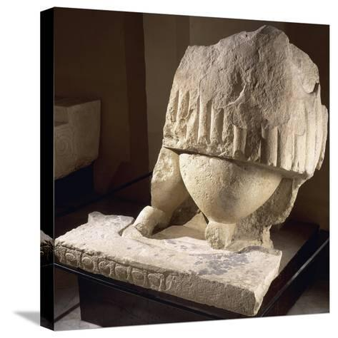 Fragment of the Great Statue of the Mother Goddess, from the Tarxien Temples--Stretched Canvas Print
