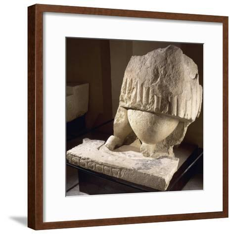Fragment of the Great Statue of the Mother Goddess, from the Tarxien Temples--Framed Art Print