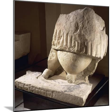 Fragment of the Great Statue of the Mother Goddess, from the Tarxien Temples--Mounted Giclee Print