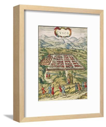 Peru, Cuzco, City of Cuzco by Georg Braun, 1594--Framed Art Print