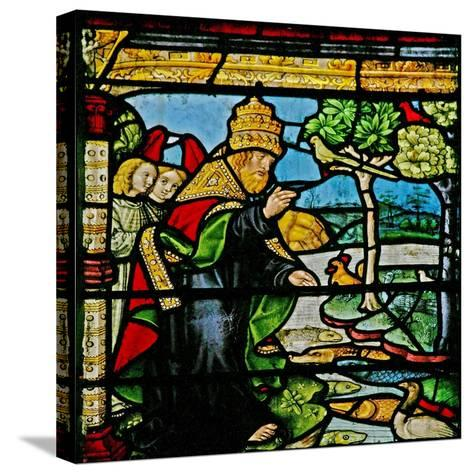 Window W1 Depicting the Creation of Fish and Fowl--Stretched Canvas Print