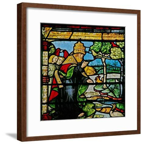 Window W1 Depicting the Creation of Fish and Fowl--Framed Art Print