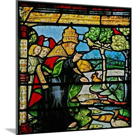 Window W1 Depicting the Creation of Fish and Fowl--Mounted Giclee Print