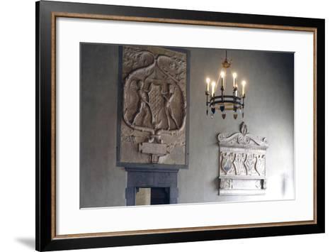 Glimpse of Living Room--Framed Art Print