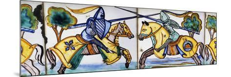 Scene of Jousting Tournament--Mounted Photographic Print