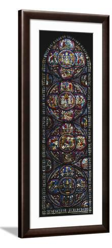 The Miracle of Notre-Dame Cathedral, Stained Glass Window--Framed Art Print