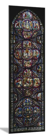 The Miracle of Notre-Dame Cathedral, Stained Glass Window--Mounted Giclee Print