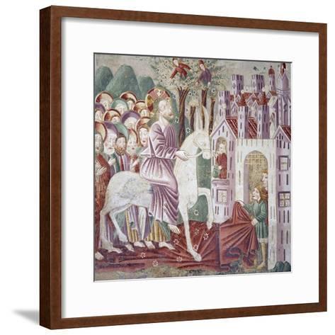 Near Pazin, Christ Entering Jerusalem--Framed Art Print