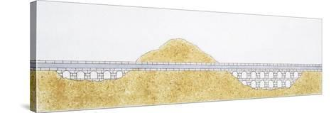 Ancient Roman Aqueduct--Stretched Canvas Print