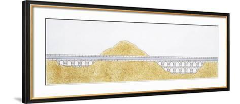 Ancient Roman Aqueduct--Framed Art Print