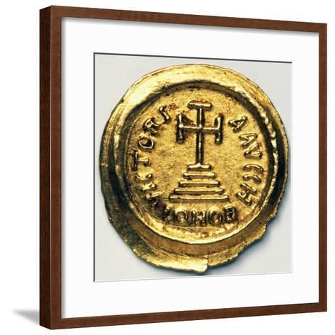 Solidus of Byzantine Emperor Heraclius, Byzantine Coins, 7th Century AD--Framed Art Print