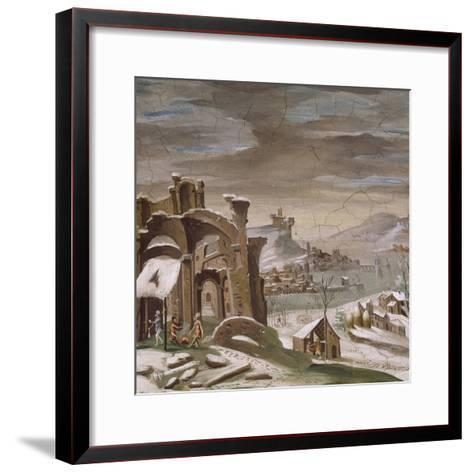 Seasons, Winter, 16th Century Decoration of Palazzo Odescalchi, Bassano Romano, Lazio, Italy--Framed Art Print