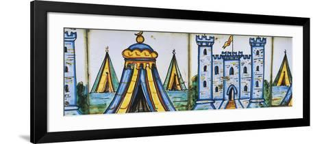 Castle and Camp--Framed Art Print