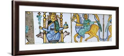 Frederick II and Falconer--Framed Art Print
