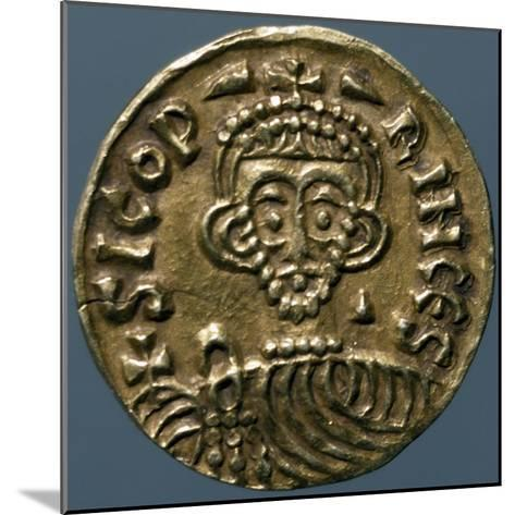 Gold Solidus of Sicone I, Prince of Benevento, Recto, Lombard Coins, 9th Century--Mounted Giclee Print