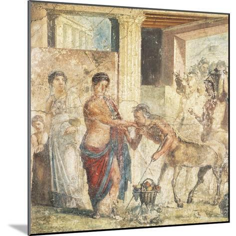 Fresco Depicting Centaur at Wedding of Pirithous and Hippodamia from Pompeii, Italy--Mounted Giclee Print