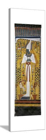 Egypt, Tomb of Nefertari, Mural Painting of Osiris in Burial Chamber from 19th Dynasty--Stretched Canvas Print