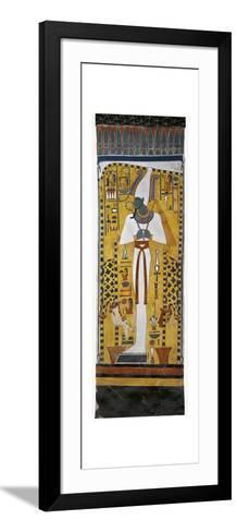 Egypt, Tomb of Nefertari, Mural Painting of Osiris in Burial Chamber from 19th Dynasty--Framed Art Print