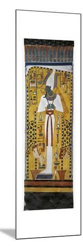 Egypt, Tomb of Nefertari, Mural Painting of Osiris in Burial Chamber from 19th Dynasty--Mounted Giclee Print