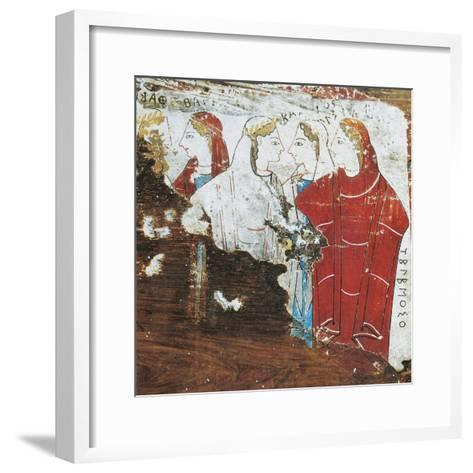 Greek Civilization, Votive Tablet Depicting Group of Women, from Corinth--Framed Art Print