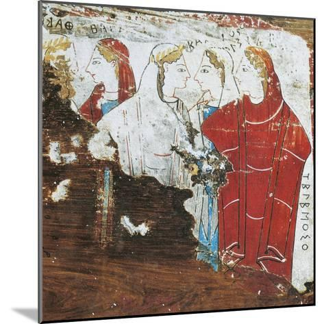 Greek Civilization, Votive Tablet Depicting Group of Women, from Corinth--Mounted Giclee Print