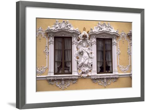 Rococo Decoration of Facade of Falkenhaus, 1751, Wuerzburg, Bavaria, Germany--Framed Art Print