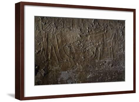 Fish Seller, Relief, Processional Ramp of Pyramid of Unas, Saqqara--Framed Art Print