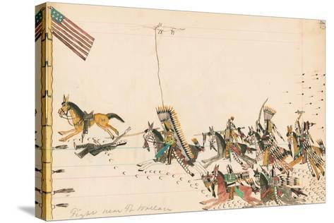 Fight Near Ft. Wallace, 1874-75--Stretched Canvas Print