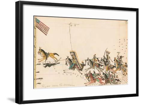 Fight Near Ft. Wallace, 1874-75--Framed Art Print