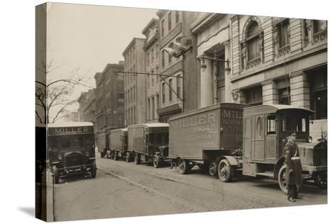 Pierce Arrow Trucks, Miller North Broad Storage Company, Philadelphia Pa, C.1926--Stretched Canvas Print