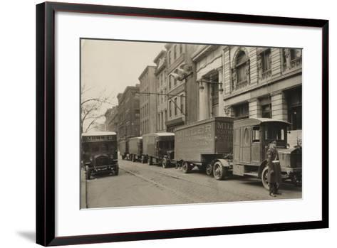 Pierce Arrow Trucks, Miller North Broad Storage Company, Philadelphia Pa, C.1926--Framed Art Print