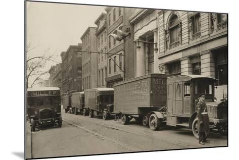 Pierce Arrow Trucks, Miller North Broad Storage Company, Philadelphia Pa, C.1926--Mounted Photographic Print
