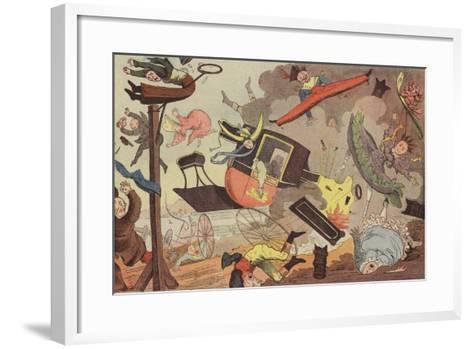 British Steam Carriage--Framed Art Print