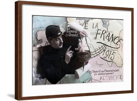 Happy New Year, 1915--Framed Art Print