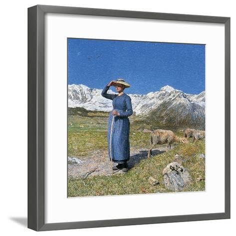 Midday on Alps on Windy Day, 1891--Framed Art Print